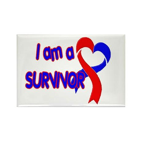 I AM A CHD SURVIVOR Rectangle Magnet (100 pack)