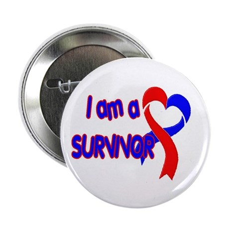 "I AM A CHD SURVIVOR 2.25"" Button (10 pack)"