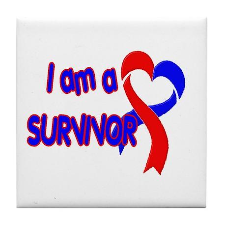 I AM A CHD SURVIVOR Tile Coaster