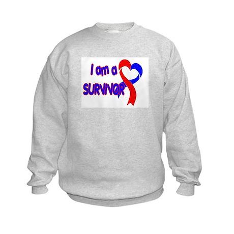 I AM A CHD SURVIVOR Kids Sweatshirt