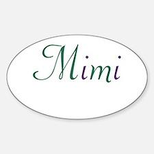 Mimi Green & Purple Sticker (Oval)