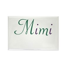 Mimi Green & Purple Rectangle Magnet