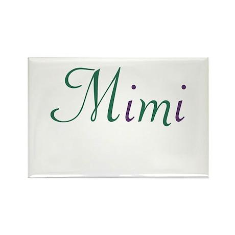 Mimi Green & Purple Rectangle Magnet