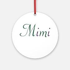 Mimi Green & Purple Ornament (Round)