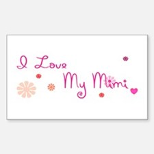 I Love My Mimi Sticker (Rectangle)