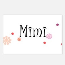 Mimi With Flowers Postcards (Package of 8)