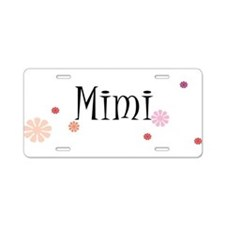 Mimi With Flowers Aluminum License Plate