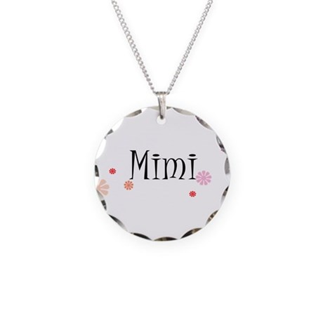 Mimi With Flowers Necklace Circle Charm