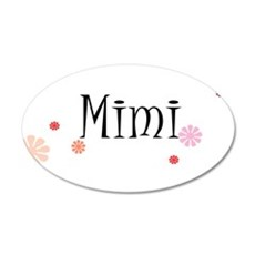 Mimi With Flowers 22x14 Oval Wall Peel