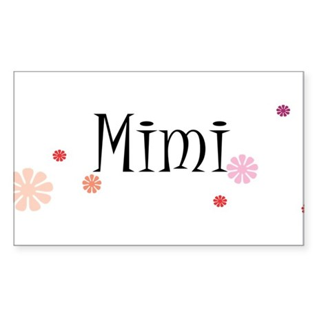 Mimi With Flowers Sticker (Rectangle)