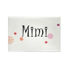Mimi With Flowers Rectangle Magnet