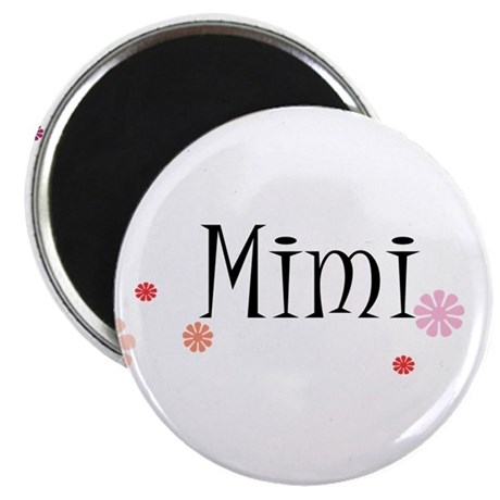 Mimi With Flowers Magnet