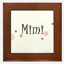 Mimi With Flowers Framed Tile
