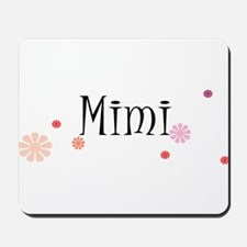 Mimi With Flowers Mousepad