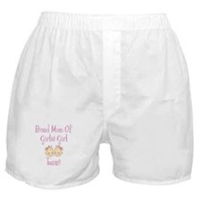 Proud Mom of Twin Girls Boxer Shorts