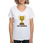 I'm A Winner Women's V-Neck T-Shirt