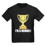 I'm A Winner Kids Dark T-Shirt