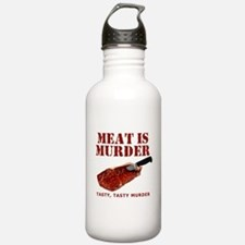 Meat is Murder Tasty Murder Water Bottle