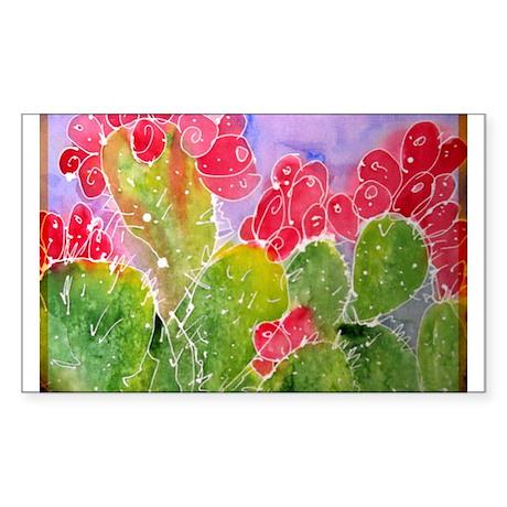 Cactus, southwest art, Sticker (Rectangle)