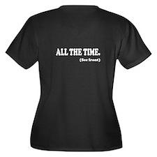 GOD is GOOD Women's Plus Size V-Neck Dark T-Shirt