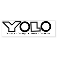 YOLO Black Bumper Sticker
