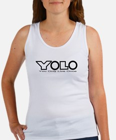 YOLO Black Women's Tank Top