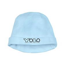 YOLO Black baby hat