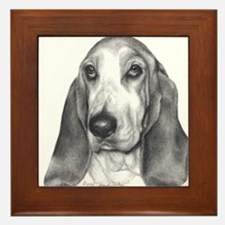 Bassett Hound Framed Tile