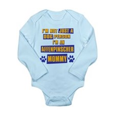 Affenpinscher Mommy Long Sleeve Infant Bodysuit