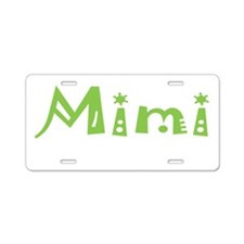 Green Mimi Aluminum License Plate