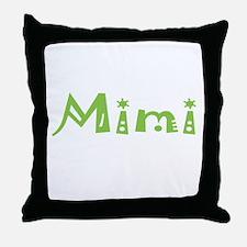 Green Mimi Throw Pillow