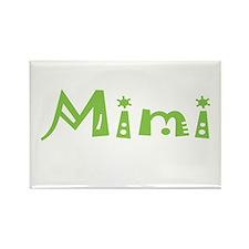 Green Mimi Rectangle Magnet