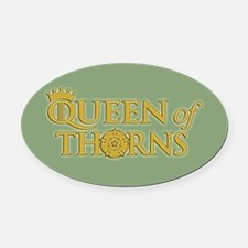 GOT Queen Of Thorns Oval Car Magnet