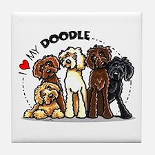 Love Labradoodles Tile Coaster