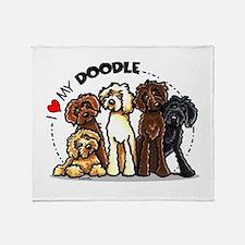 Love Labradoodles Throw Blanket