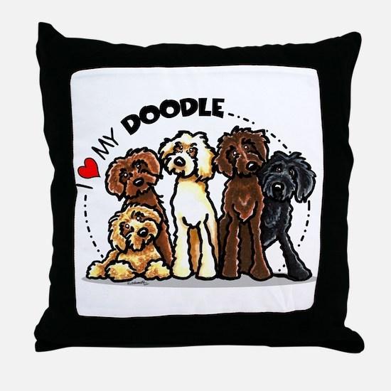 Love Labradoodles Throw Pillow