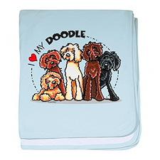 Love Labradoodles baby blanket