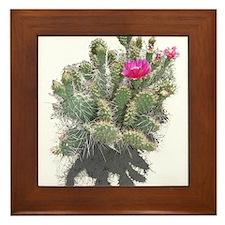 Nevada cactus Framed Tile