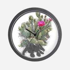 Nevada cactus Wall Clock