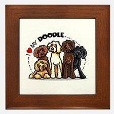 Love Labradoodles Framed Tile