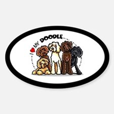 Love Labradoodles Sticker (Oval)