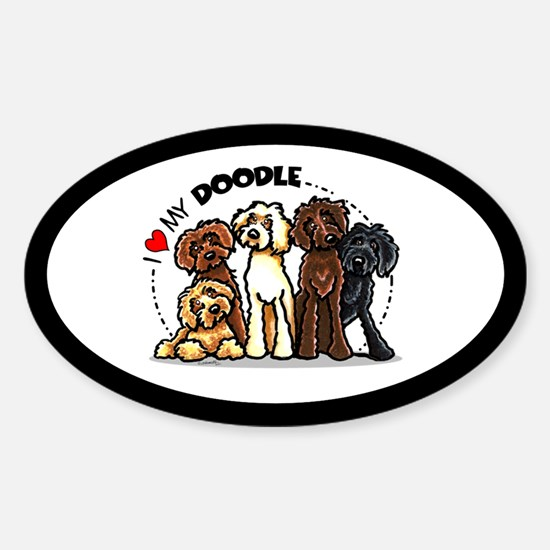 Love Labradoodles Sticker (Oval)
