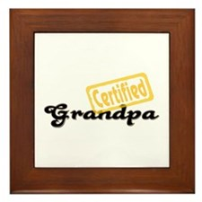 Certified Grandpa Framed Tile