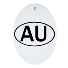 AUSTRALIA OVAL STICKERS & MOR Ornament (Oval)