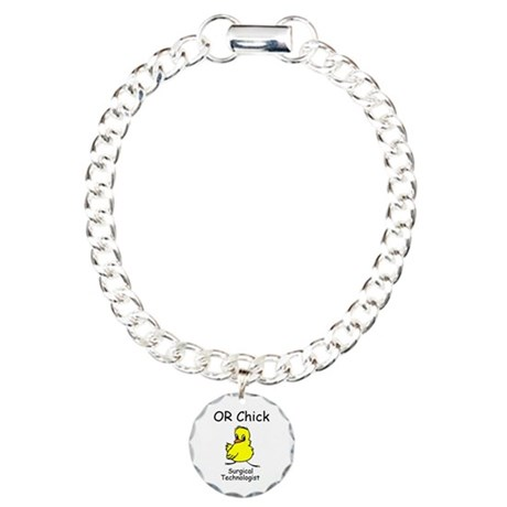 OR CHICK ST Charm Bracelet, One Charm