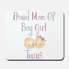 Proud Mom of Boy Girl Twins Mousepad