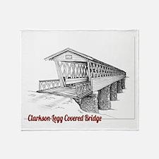 Clarkson Legg Covered Bridge Throw Blanket