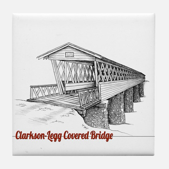 Clarkson Legg Covered Bridge Tile Coaster