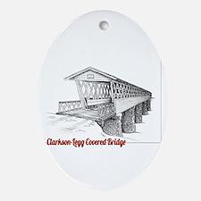 Clarkson Legg Covered Bridge Ornament (Oval)