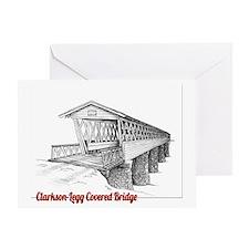 Clarkson Legg Covered Bridge Greeting Card